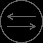Two-way arrow icon