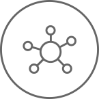 Hub and spoke icon