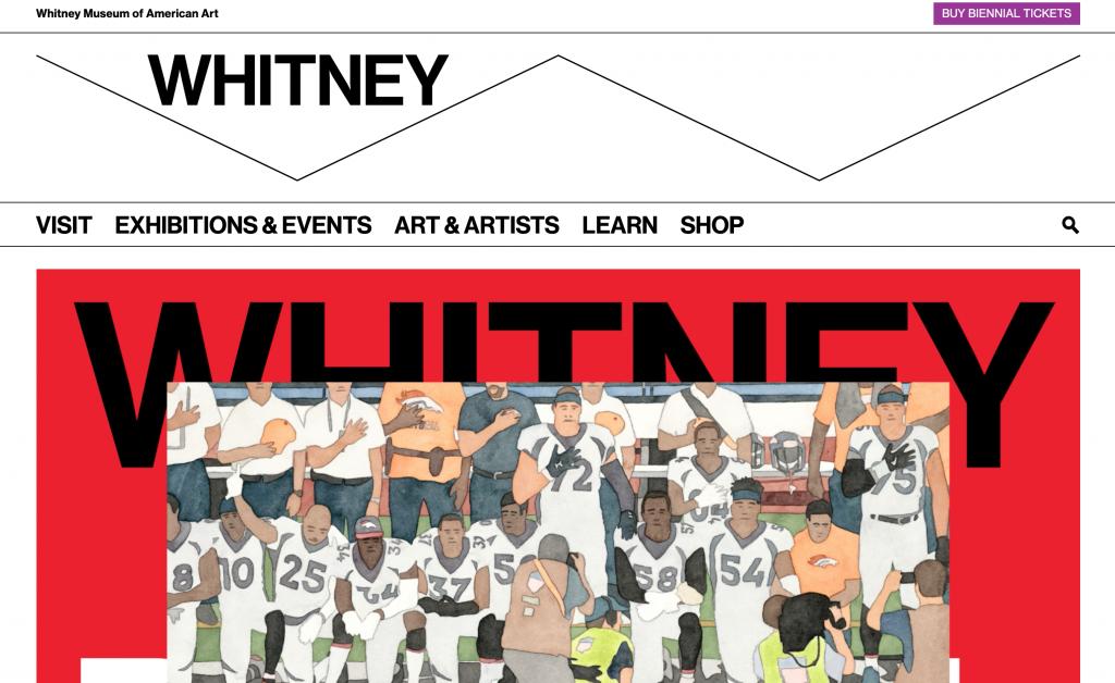 whitney museum website design