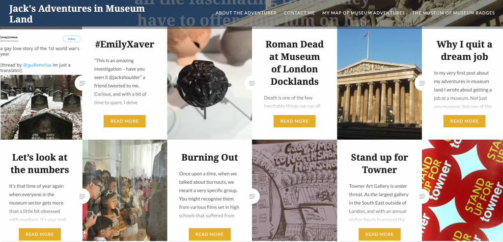 Museum blog design