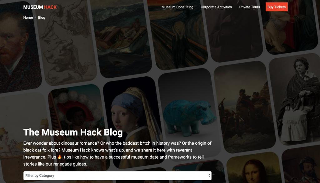 museum hack website design