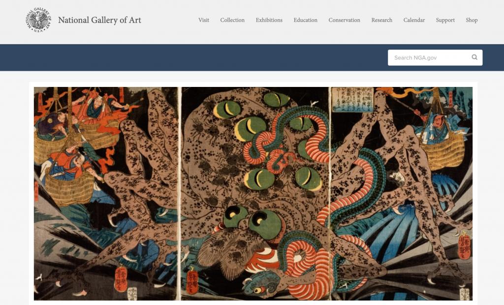 National Gallery of Art website design