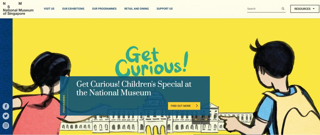 museum website designs