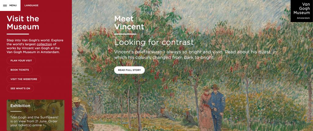 art museum website design